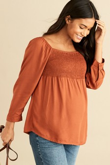 Maternity Shirred Top