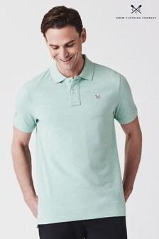 Polo clásico verde de piqué de Crew Clothing