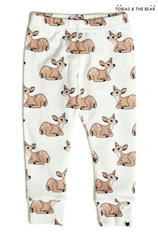 Tobias & The Bear White Fawn Organic Cotton Leggings