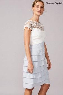 שמלה של Phase Eight דגם Faith Contrast בלבן