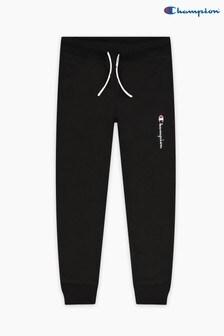 Pantalon de jogging Champion noir à chevilles côtelées