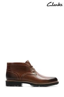 Clarks Dark Tan Lea Batcombe Lo Boots