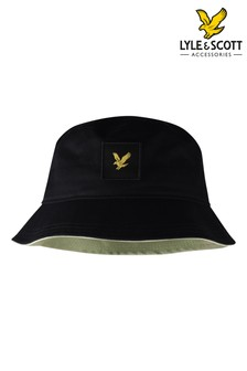 Lyle & Scott Black Contrast Bucket Hat