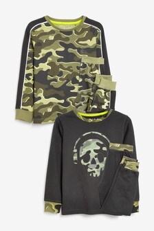 Набор из 2 камуфляжных пижам  (3-16 лет)