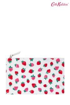 Cath Kidston® Sweet Strawberry Reisetasche zum Zusammenfalten, Weiß