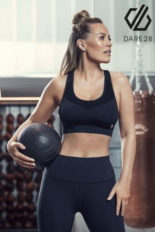 Dare 2B Grey Don't Sweat It Sports Running Bra