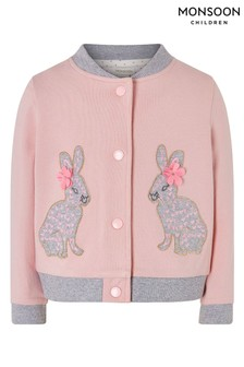 Monsoon Pink Baby Bunny Bomber Jacket