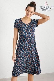 Seasalt Blue Crebawthan Dress