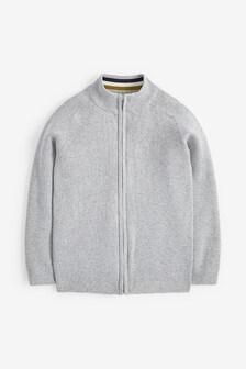 Knitted Zip Through Cardigan (3-16yrs)