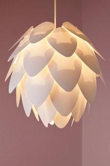 Eenvoudig te monteren lampenkap met lotusbloem