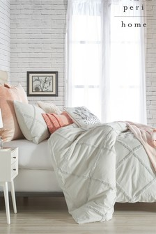 Peri Home Chenille Trimmed Lattice Duvet Cover