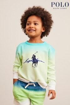 Ralph Lauren Green/Blue Ombre Logo Sweatshirt