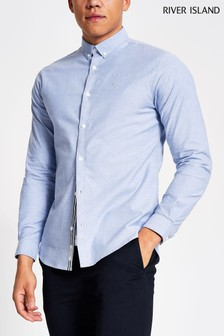 River Island Blue Oxford Shirt