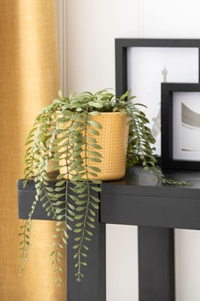 Artificial Trailing Plant In Yellow Pot