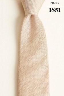 Moss 1851 Taupe Plain Silk Tie