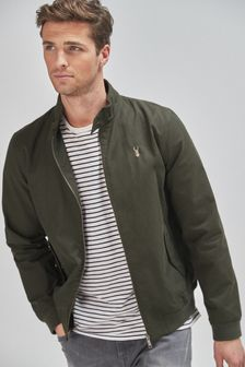 Shower Resistant Harrington Jacket With Check Lining (298410) | $76