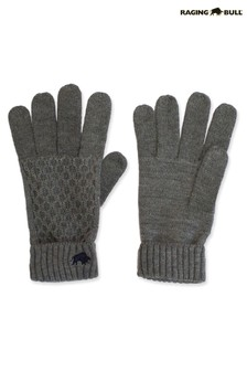 Raging Bull Grey Cable Knit Gloves