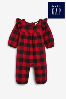 Gap Red Buffalo Check Rompersuit