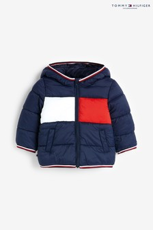 Tommy Hilfiger Blue Baby Flag Padded Jacket