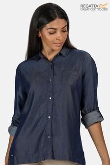 חולצתכותנה מסוגCoolweave של Regatta דגם Meera בצבעכחול
