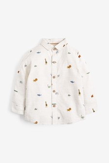 Long Sleeve Grandad Shirt (3mths-7yrs)