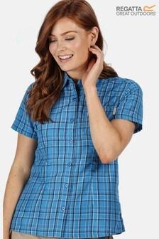 חולצה קצרה לנשים שלRegatta דגם Mindano עם מפתח וי