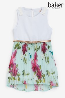 Baker by Ted Baker Girls Printed Pleated Dress