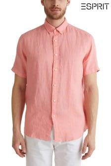 Esprit roze linnen overhemd