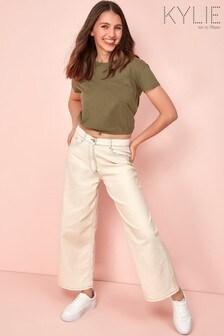 Kylie大地色丹寧服飾Culotte牛仔褲