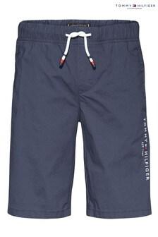 Tommy Hilfiger Blue Stretch Poplin Shorts