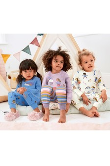3 Pack Rainbow/Girl Cotton Snuggle Pyjamas (9mths-8yrs)