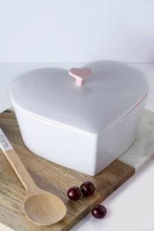 Cocotte forme cœur à couvercle