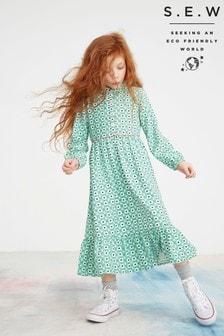 Monsoon Green S.E.W Dido Floral Shirt Dress