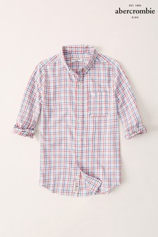 Abercrombie & Fitch White Plaid Shirt