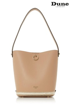 Dune London Danika Camel Synthetic Bucket Bag