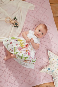 Floral Scene Prom Style Dress (0mths-2yrs)