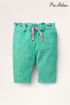 Boden Green Cord Pull-On Trousers