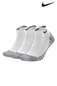 Nike Adult White Cushioned Trainer Socks Three Pack