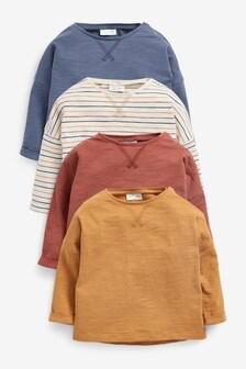 4 Pack Long Sleeve T-Shirts (0mths-2yrs)