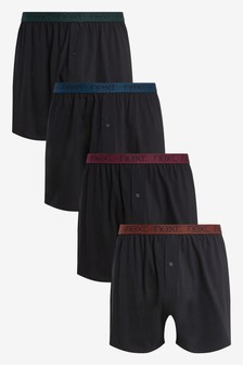 Lot de quatre boxers coupe ample en coton pur