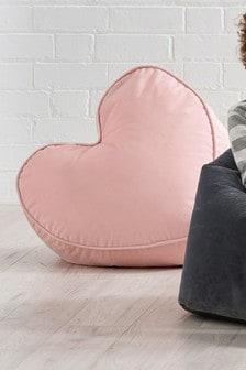 绒布心形豆袋椅