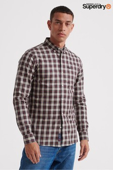 Superdry Black Check Long Sleeve Shirt