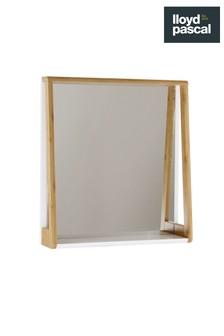 Lloyd Pascal Bamboo Mirror With Shelf