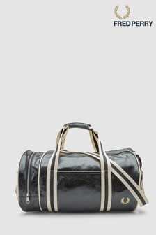 Fred Perry Black Classic Barrel Bag