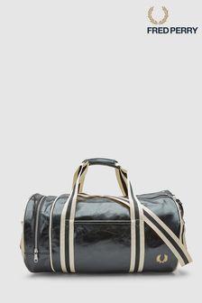 Черная классическая сумка цилиндрической формы Fred Perry