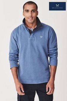 Crew Clothing Company ブルー ライトウェイト Padstow スウェットシャツ