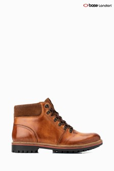 Base London® Tan Fawn Burnished Lace-Up Boots