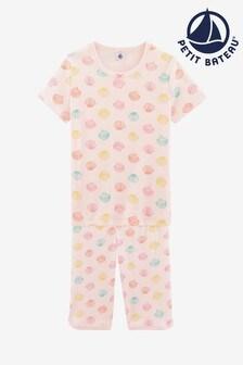 Pijamas con estampado de conchas multicolores de Petit Bateau