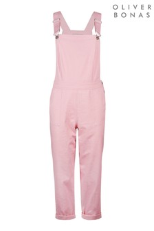 Oliver Bonas  Pink Cotton Twill Dungarees (303045) | $110