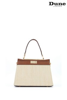 Dune London Nude Ducies Medium Woven Tote